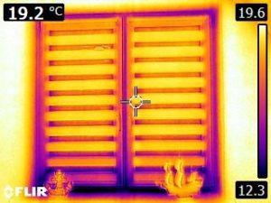 проверка тепловизором окна